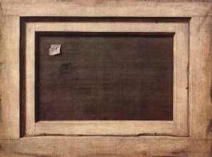"""O verso de uma pintura"", C. N. Gysbrechts (1670)"