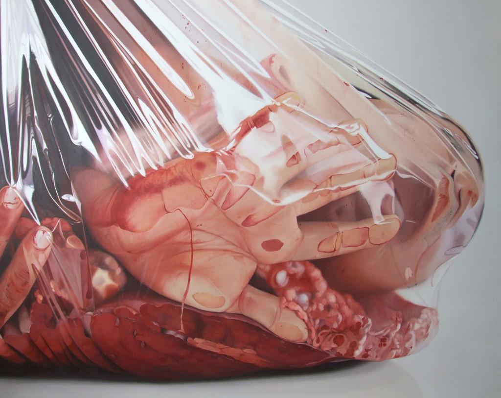 Fábio Magalhães  Trouxas II (Alusivo ao Artur Barrio)  Óleo sobre Tela  190 x 250 cm  2013  Coleção Particular