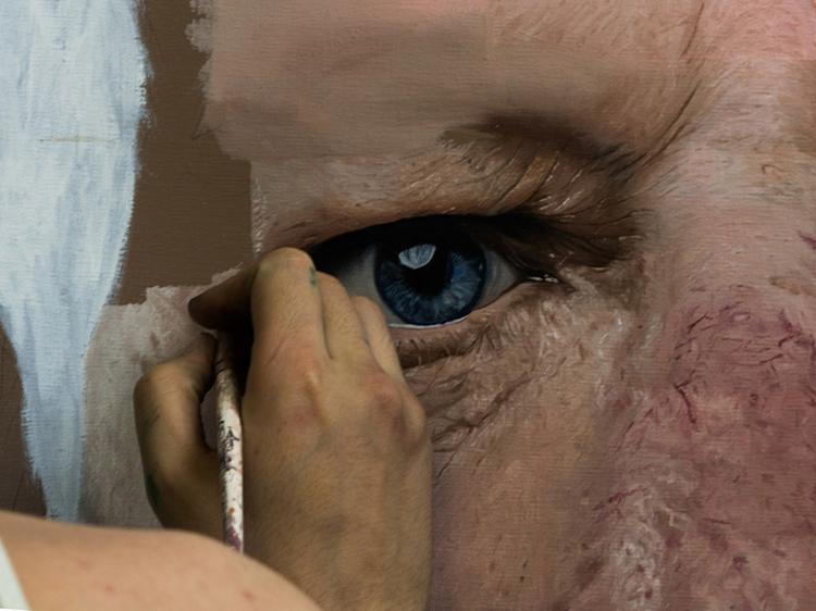 MICHAEL SIDNEY MOORE pintando