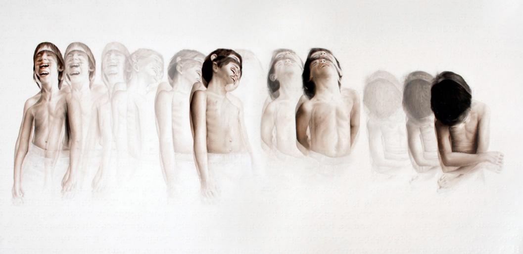 "ROY NACHUM, ""Tears of Laughter"" | óleo sobre tela, 2010-11"
